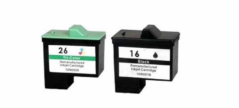 Kit Cartucho Compativel Lexmark 16/17 Preto   26/27 Color