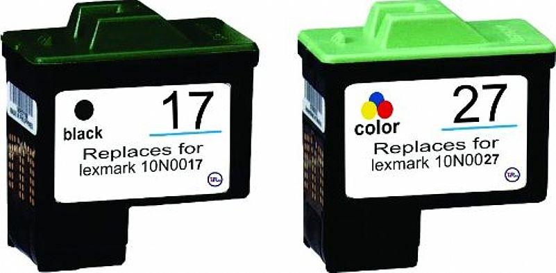Kit Cartuchos Lexmark Xl 16 E 26 Ou 17 E 27 C/ 2x Mais Tinta