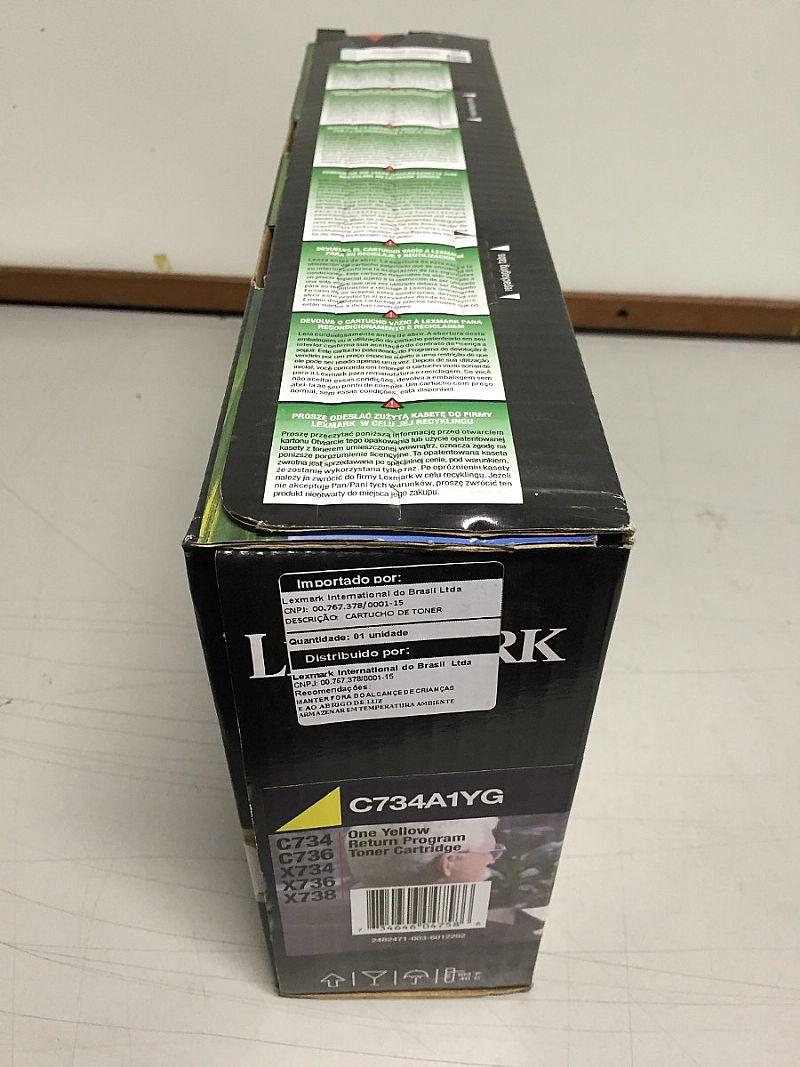 Toner Lexmark C734a1yg Yellow C734 C736 X738 - Original Lc