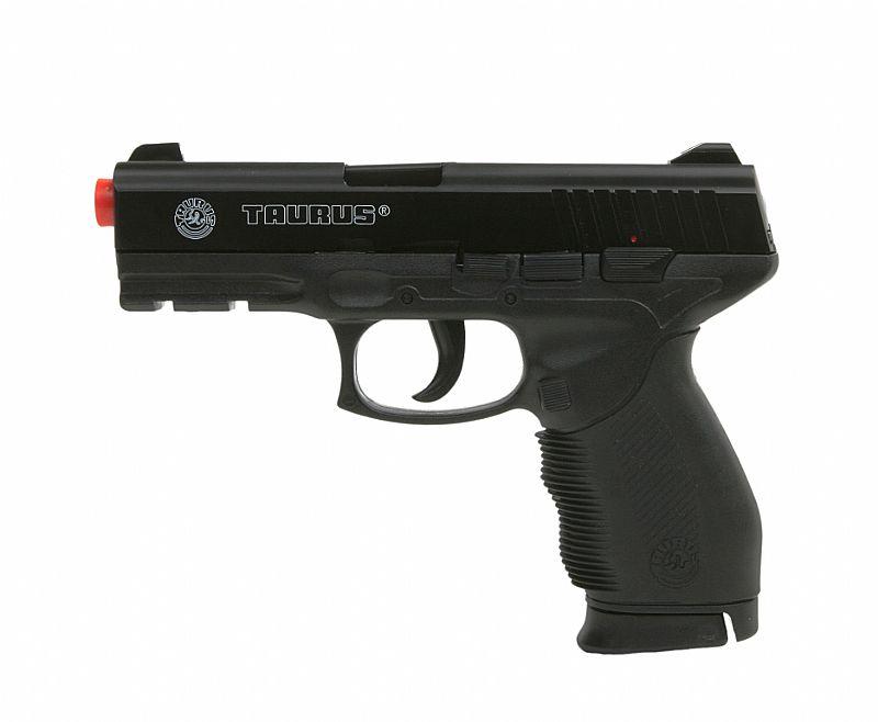 Pistola de Airsoft Taurus PT 24/7 Semi/Metal Cal 6, 0 mm   4000 Esferas Plasticas 0, 12g - Cyber Gun