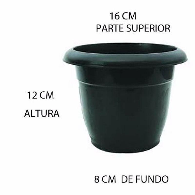 Vaso 16 Cm Plastico Planta Jardim 1000ml