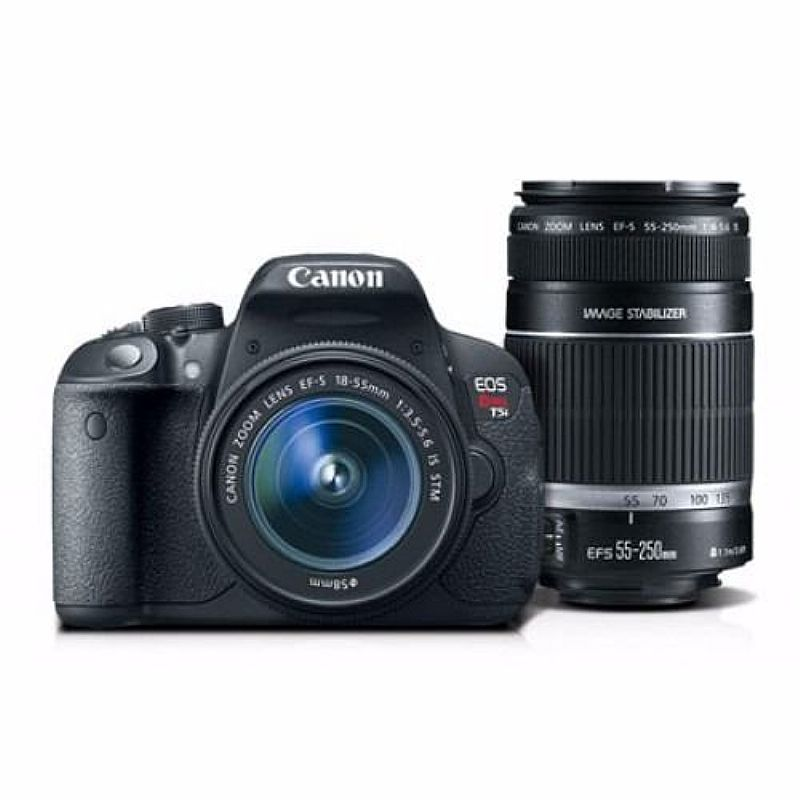 Canon T5i Combo Premium Kitef-s18-55 / Ef-s55-250 32gb bolsa