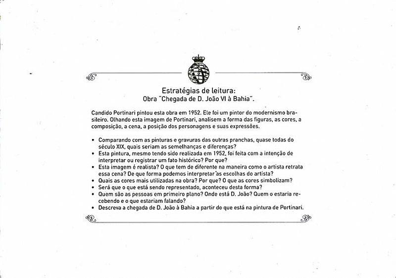 Chegada de D Joao VI à Bahia,   Obra de Candido Portinari de 1952