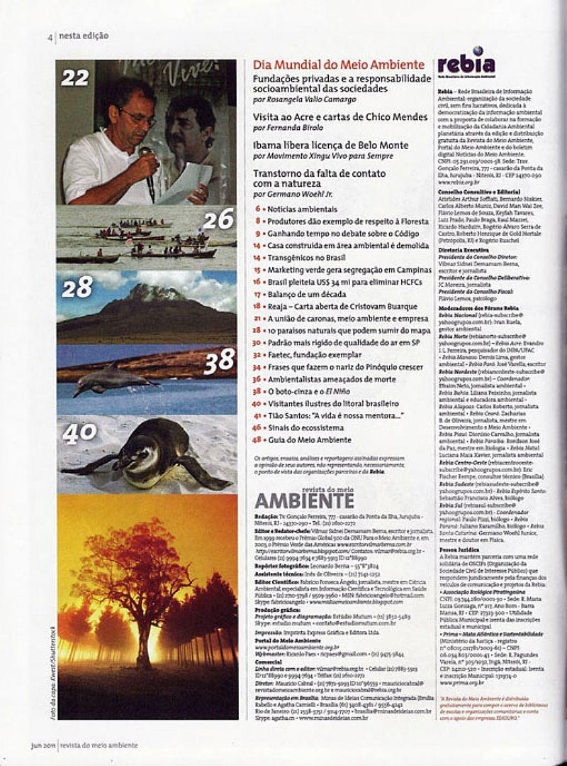 Dia Mundial do Meio Ambiente,  Revista nº 37