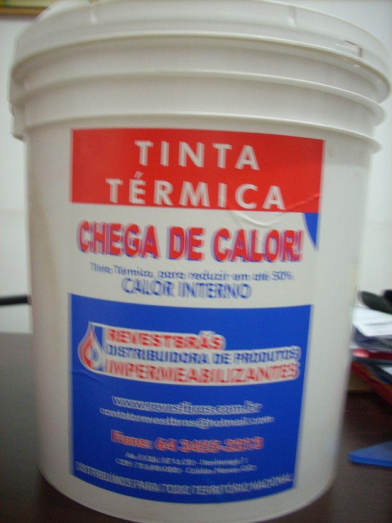 Tinta termica para reduzir calor interno em ate 50%
