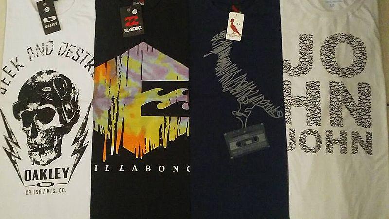 Kit 10 camisetas estampadas de primeira linha