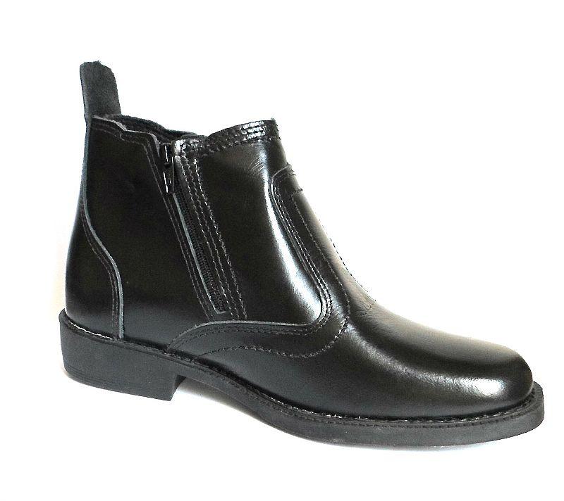 bota botina preta couro legitimo solado costurado