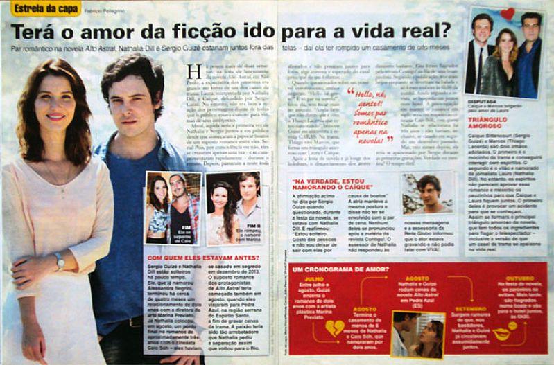 Tera o Amor de Ficcao de Nathalia Dill e Sergio Guize Ido Para a Vida Real,  Revista