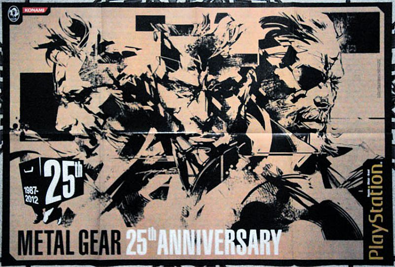 Konami,  Metal Gear,  25º Anivrsary ,  1987 / 2012,  da Revista Oficial Brasil PlayStation