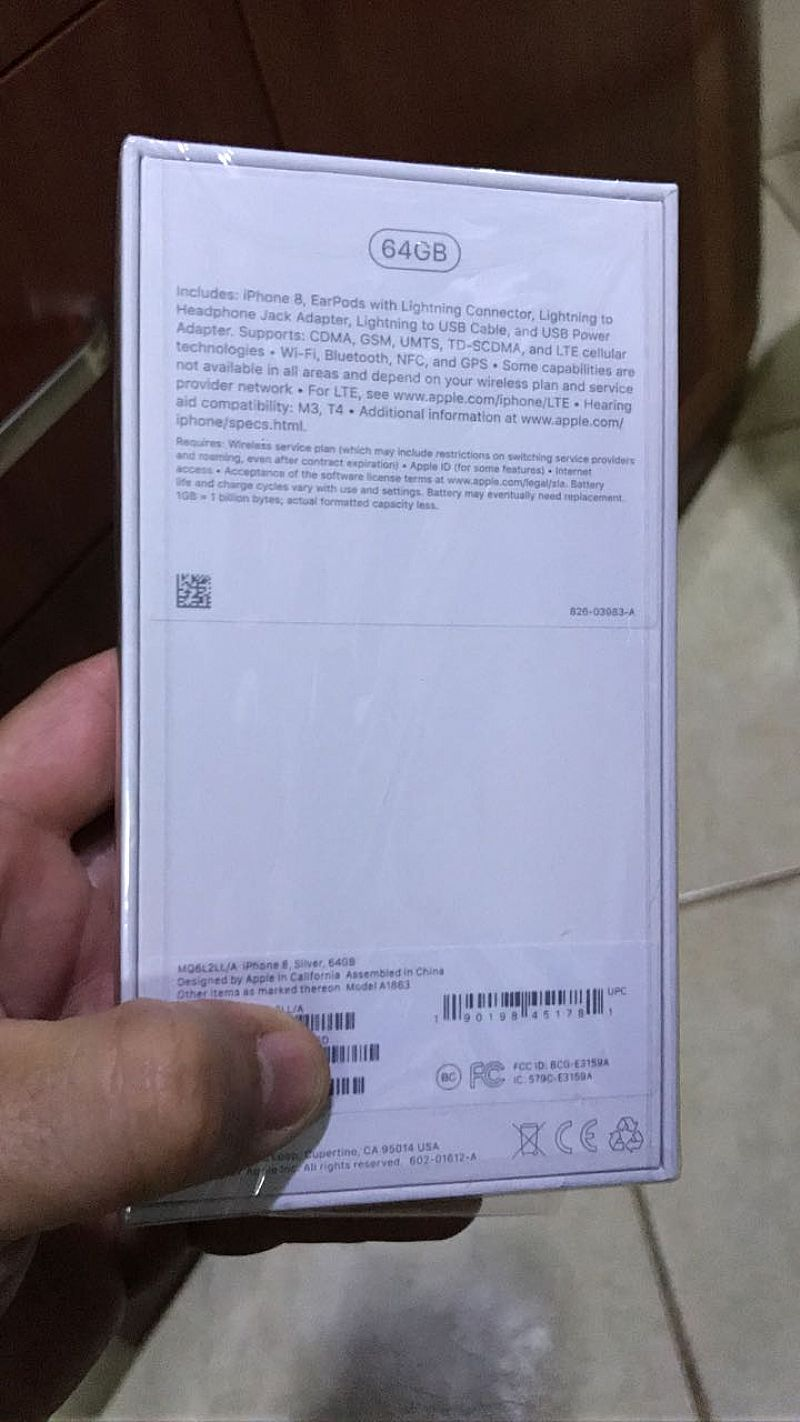 Novo iphone 8 64gb a pronta entrega (lacrado 1 ano)