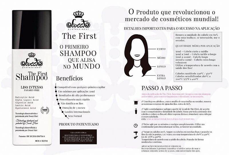 Primeiro shampoo que lava e alisa
