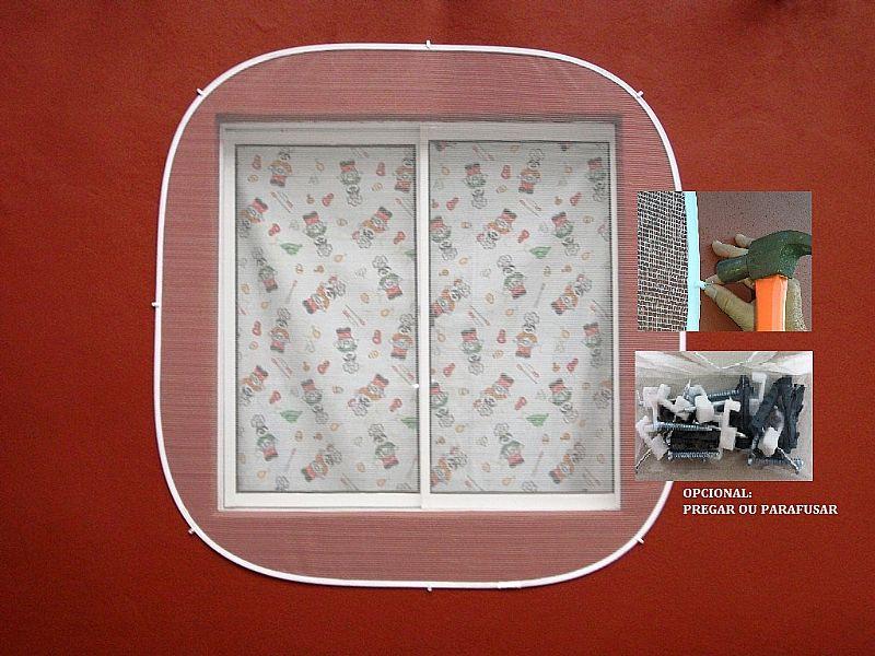 Tela mosquiteiro para janela dobravel e portatil