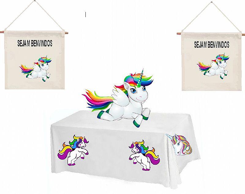 Toalha de mesa unicornio 2, 00  1, 50