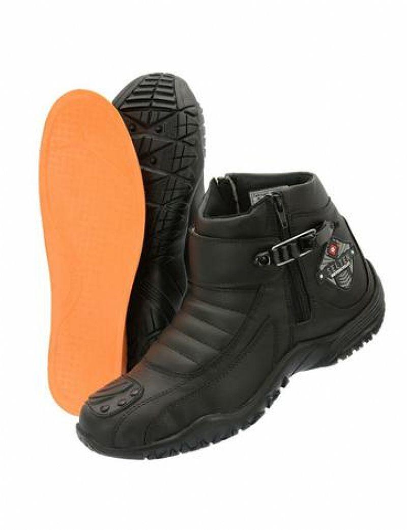 Super bota protetora motociclista com protecao lateral