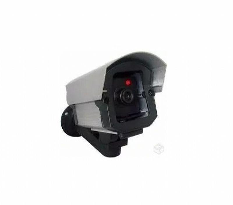 Micro camera falsa com led p/ seguranca residencial   brinde
