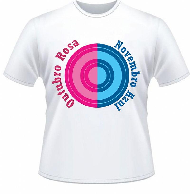 Camisetas campanha outubro rosa/novembro azul