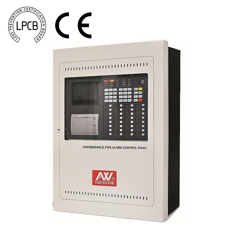 Aw-fp300 lpcb addressable fire alarm system 32 zone control panel