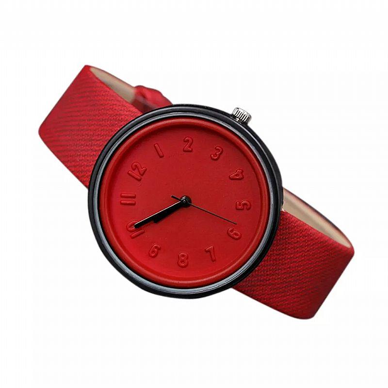 Relógio masculino Numero tempo zero 501 2019 nova moda unissex simples relogios de quartzo cinto de lona presentes relogio de pulso de design de luxo vermelho livre gratis
