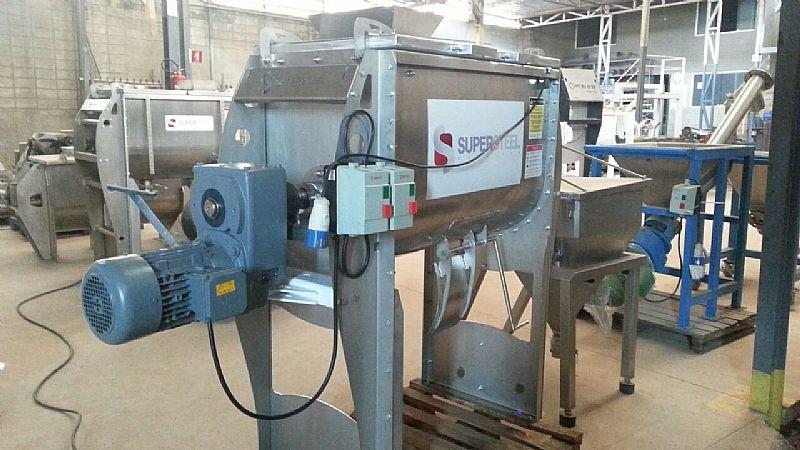 Misturador para producao de fertilizantes npk