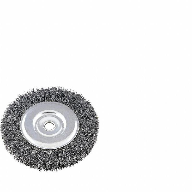 Escova de aco circular 6 x 3/4 pol furo 1/2