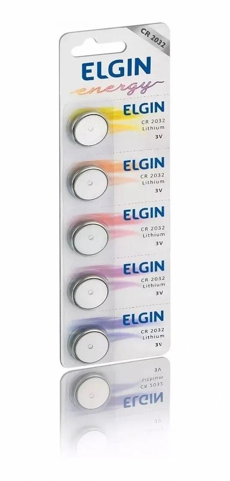 bateria moeda cr2032 3v pilha lithium elgin 3 cartelas