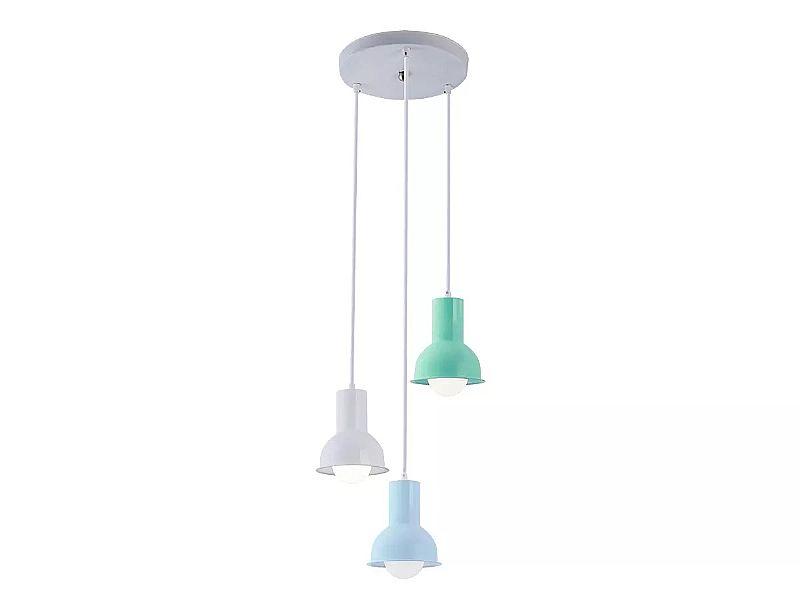 Luminaria pendente infantil menino collectiontrio collors m2 marca startec modelo collection collors m2