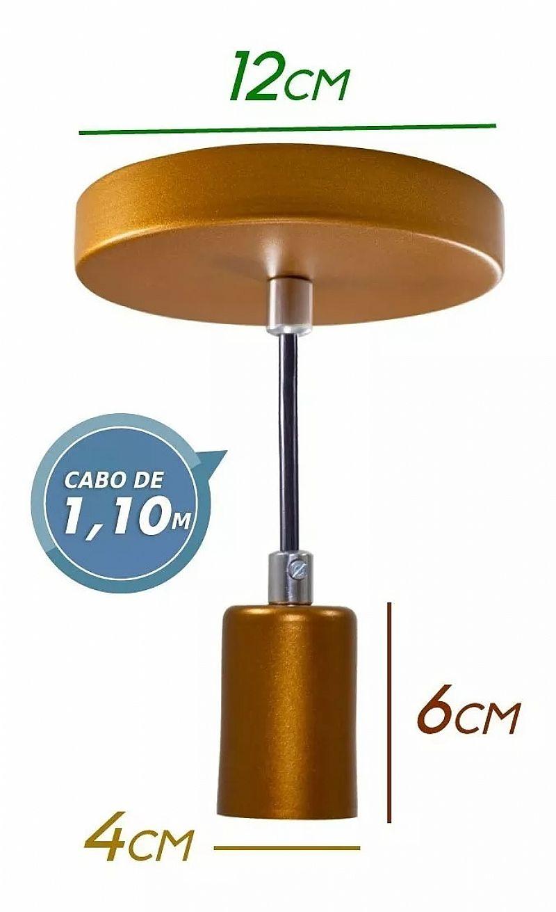 1x pendente tubo cilindro aluminio 4x10cm e27 st458 marca starlumen modelo st642