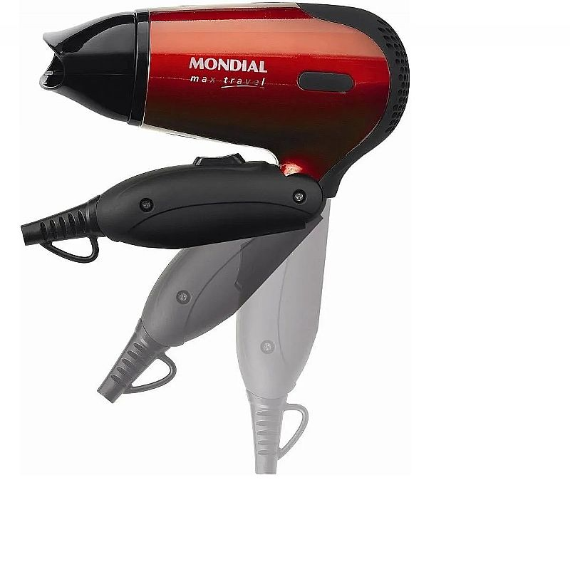 Secador de cabelos mini dobravel viagem mondial sc-10 bivolt  marca mondial modelo sc-10