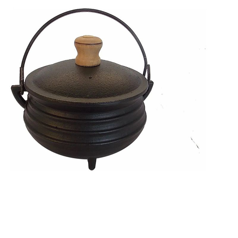 Panela de ferro fundido tripe com tampa nº 3 - 1 litro       marca santana