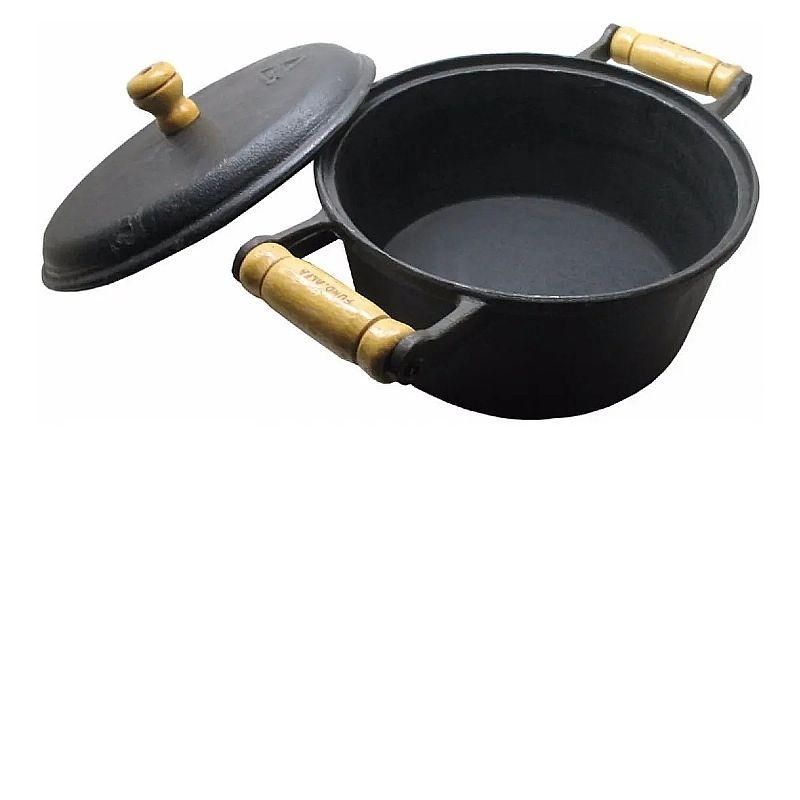 Panela cacarola em ferro fundido mineira caseira 2, 25 litros       marca fundicao santana     modelo cacarola
