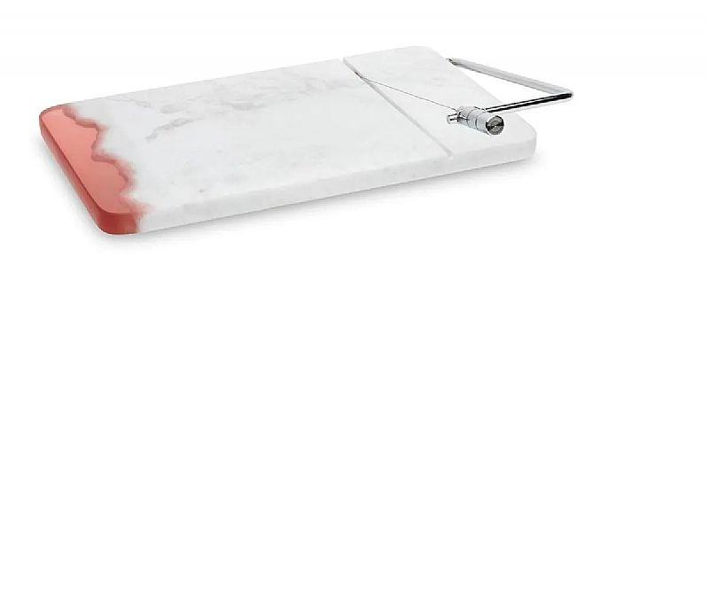 Fatiador para frios da oxford marmore branco/vermelho -69717       marca oxford     modelo 69717
