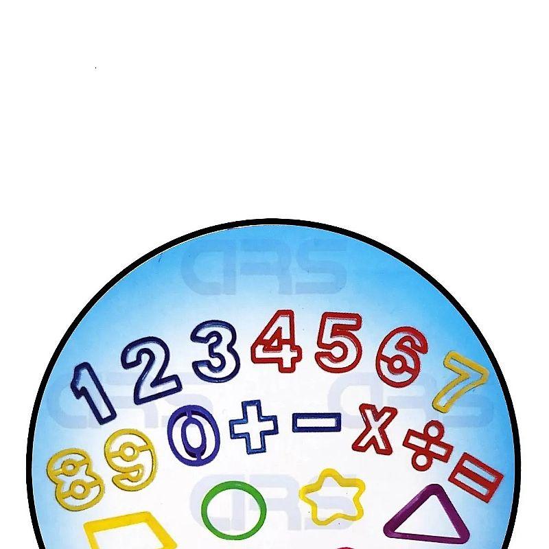 Massinha modelar c/ molde numeros 23 pecas 8 cores       marca plasticine     modelo numeros