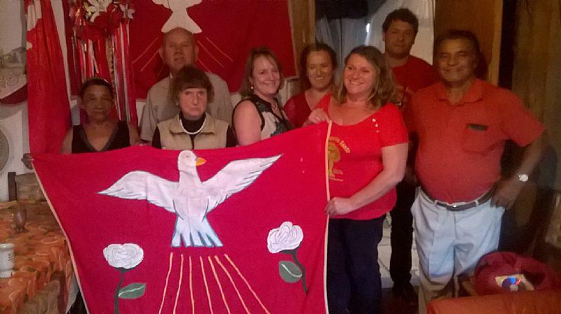 Bandeiras  de mesa do divino espirito santo