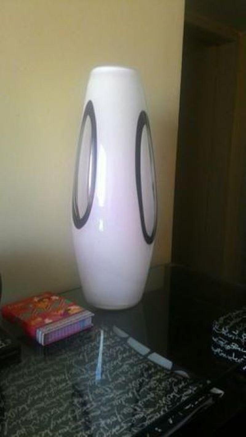 Vaso decorativo de vidro grande