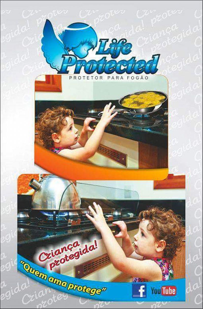 Protetor para fogao - crianca protegida
