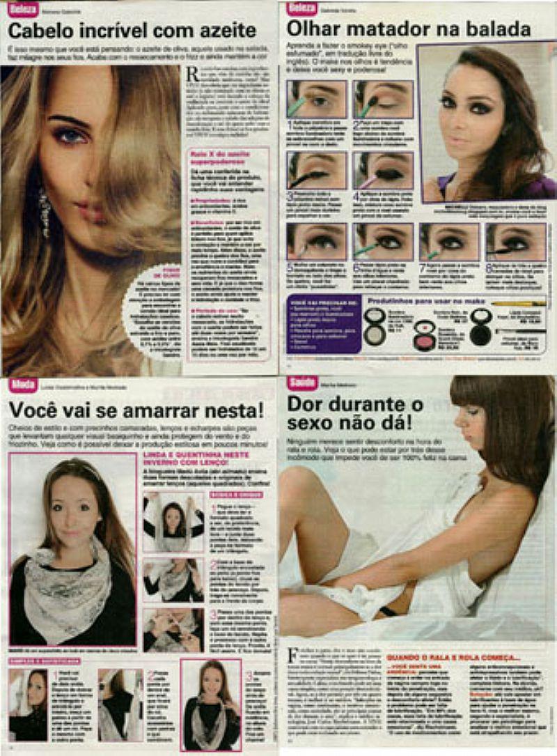 Shakira Conta o Que Faz Para Manter o Corpao,     Revista Viva Mais nº 772 e 2 Recortes Cortesias