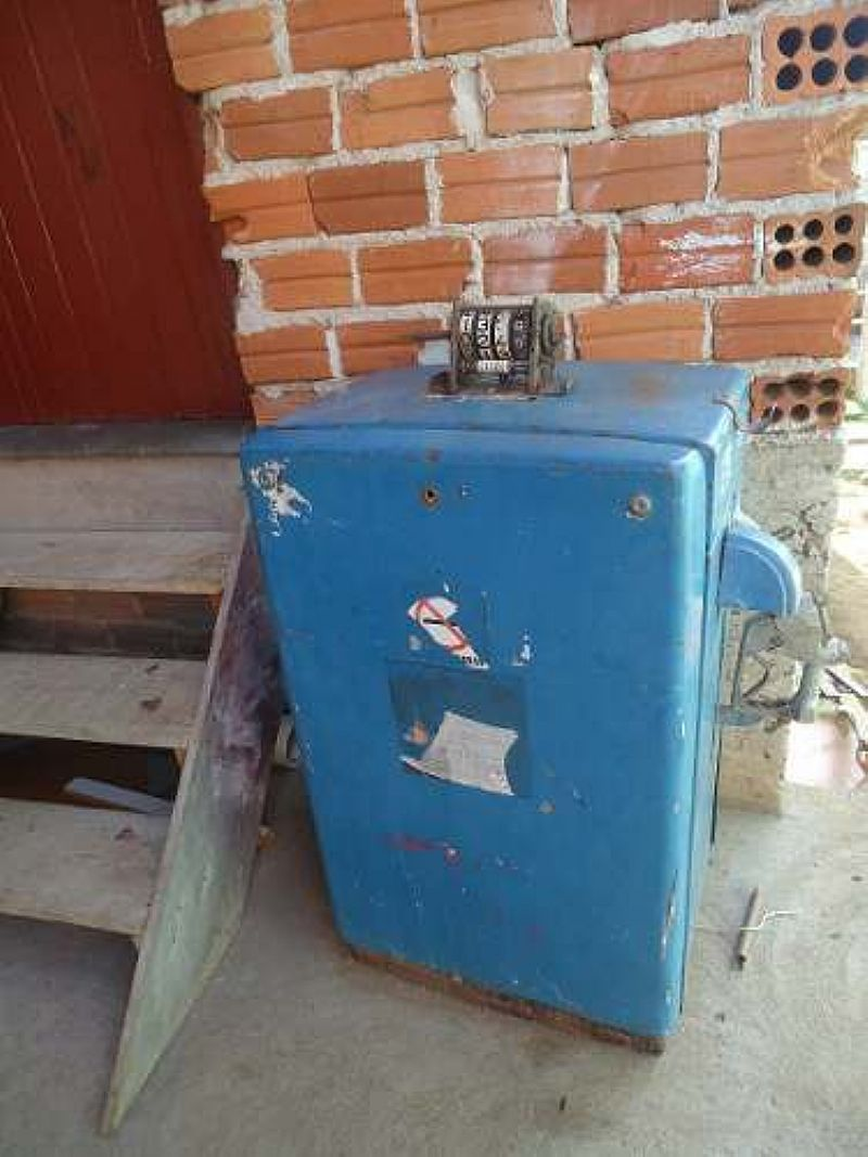 Bomba De Posto Antiga Maquina De Abastecer Bomba Gasolina