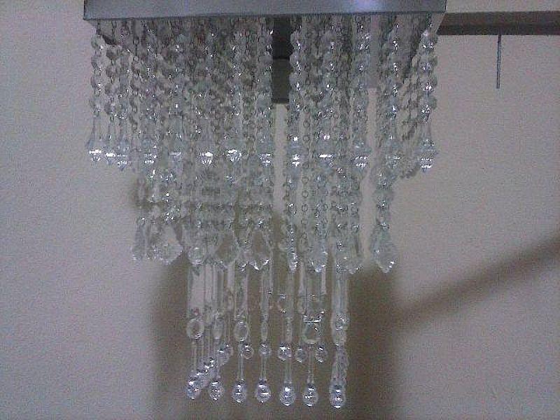 Lustre artesanal de cristal acrilico