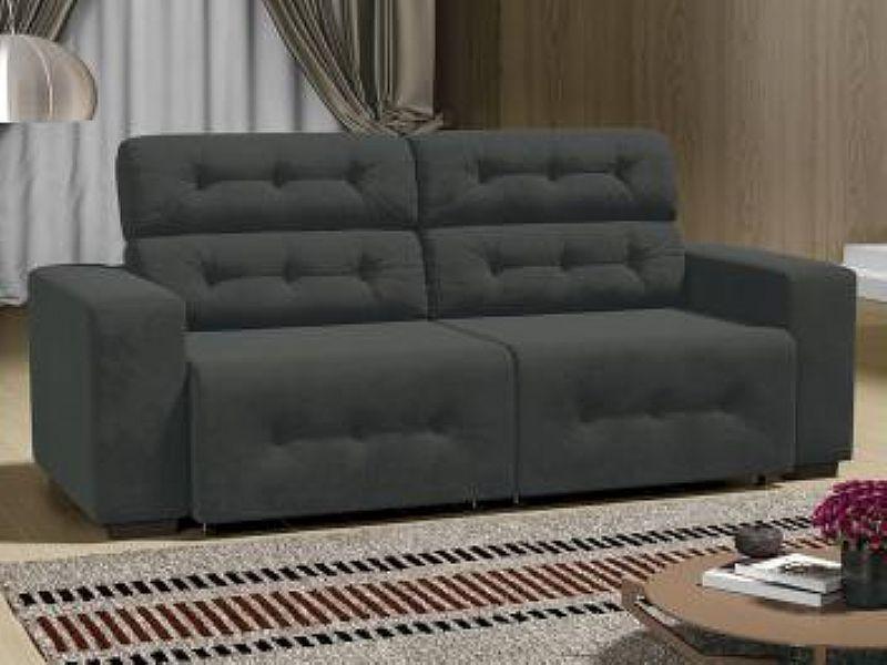 Sofa 4 Lugares Retratil e Reclinavel - Revestimento Suede Prince - Linoforte