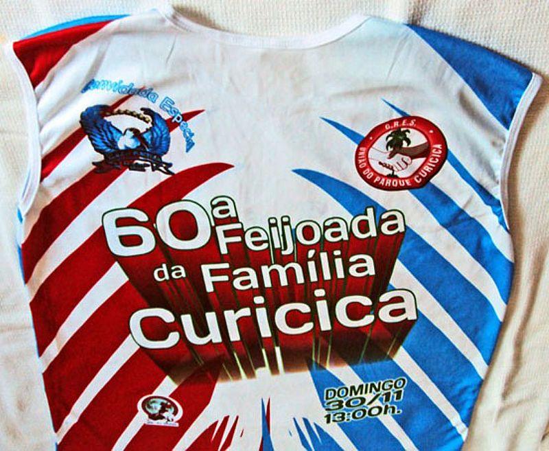 60 Anos,  Feijoada da Familia Curicica,  G.R.E.S.  Uniao do Parque Curicica - RJ,  Tamanho M,  Rara 2011
