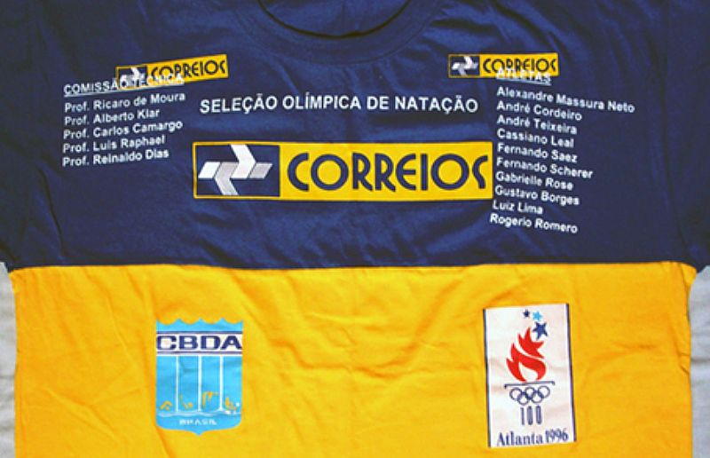 Selecao Olimpica de Natacao Brasil/CBDA,  Brasil Correios,  Atlanta 1996,  Atletas e Comissao Tecnica