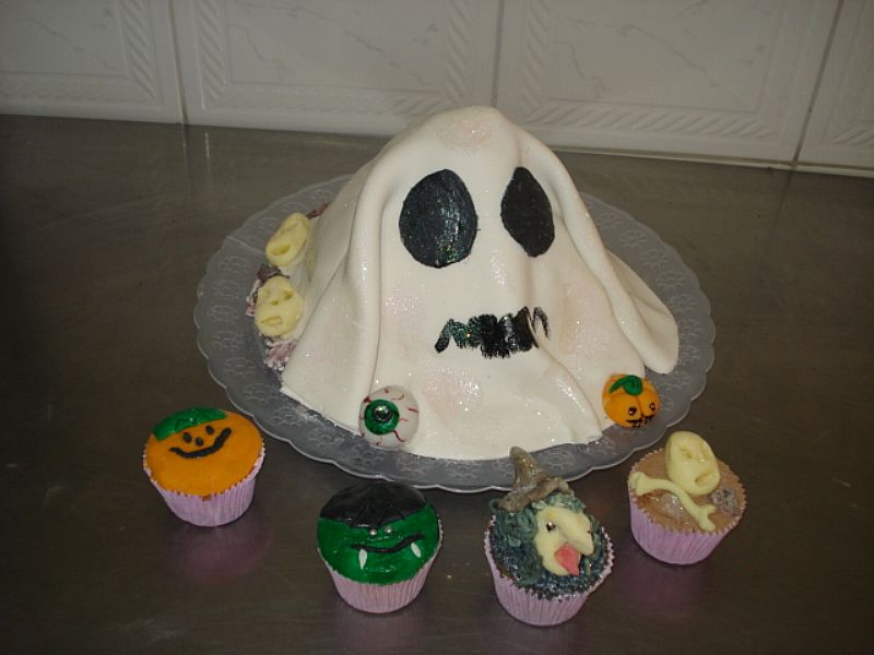 bolos e doces halloween pirulito cupcake maca do amor pirulito