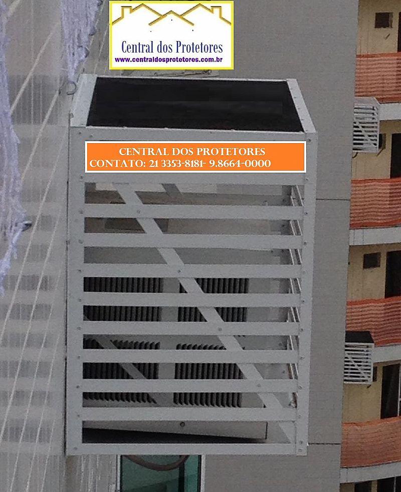 Caixas protetores grades gabinete em aluminio para ar condicionado e split