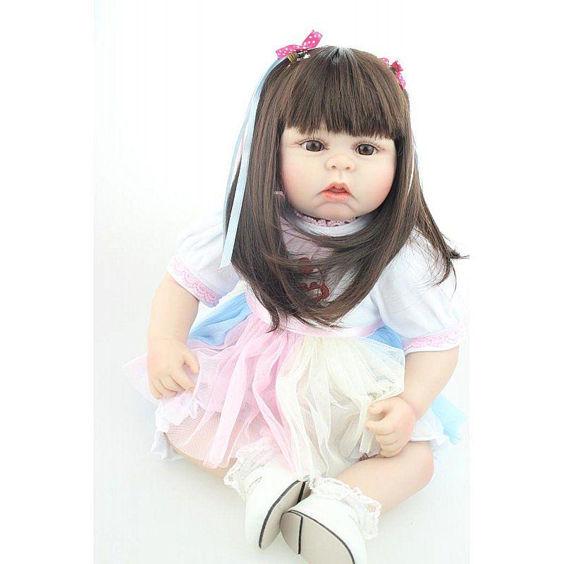 Bebe reborn ana gabriela - 55 cm - corpo de algodao
