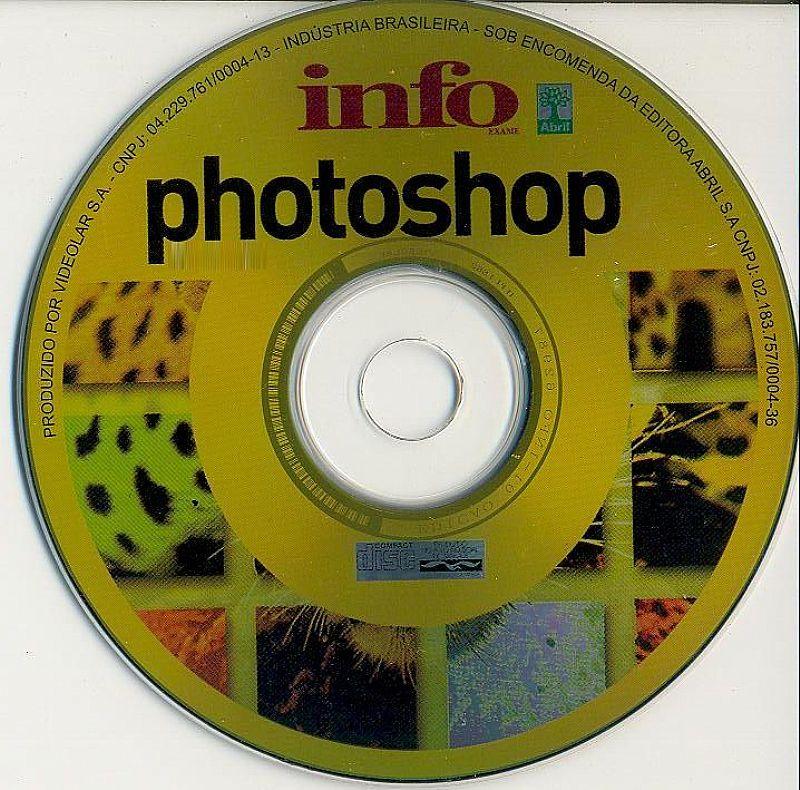 Vendo videocurso de photoshop em cd-rom original infoexame.