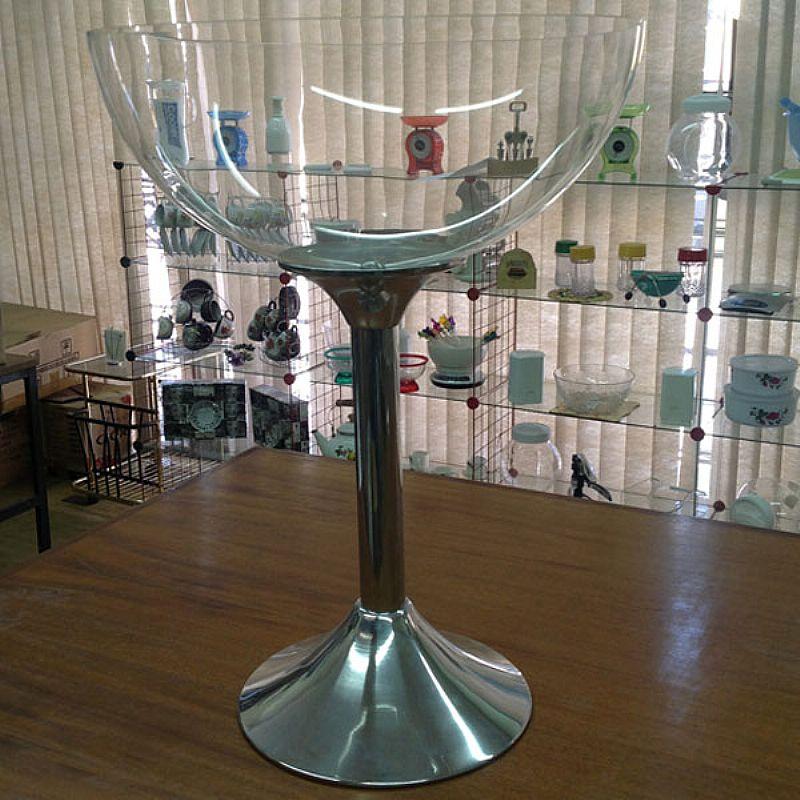 Taca champanheira de acrilico transparente