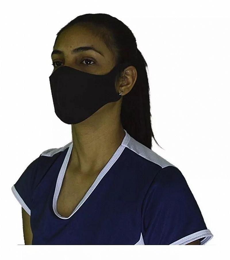 Mascaras higienica de protecao em tnt unissex lavavel kit com 8