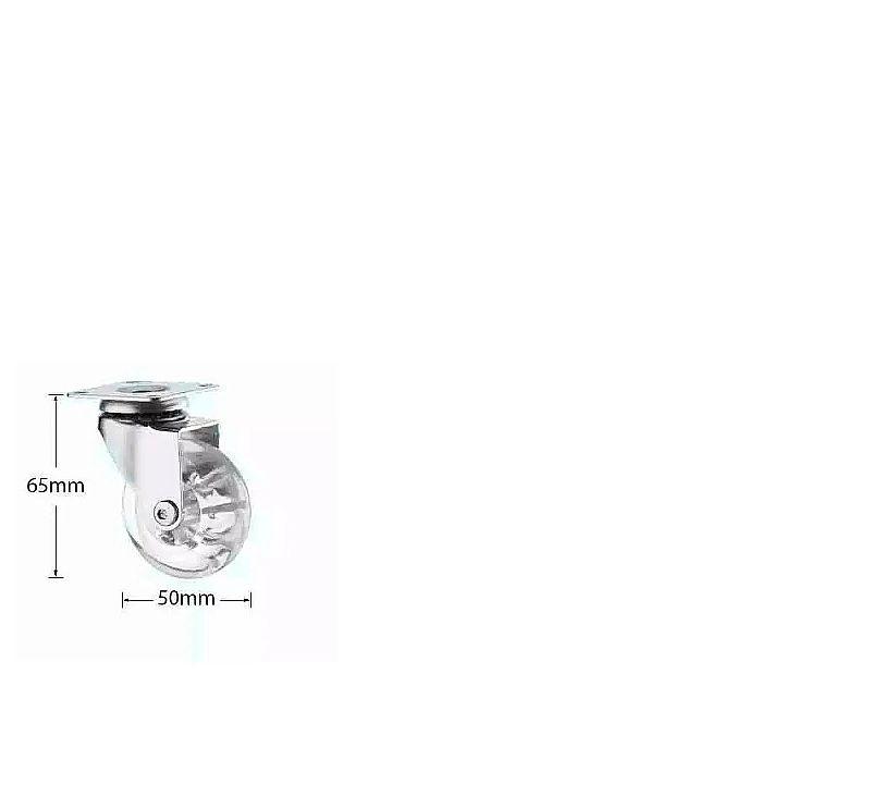 Rodas de silicone com trava para sofá anti risco giratorios,   roda 50 mm sem trava