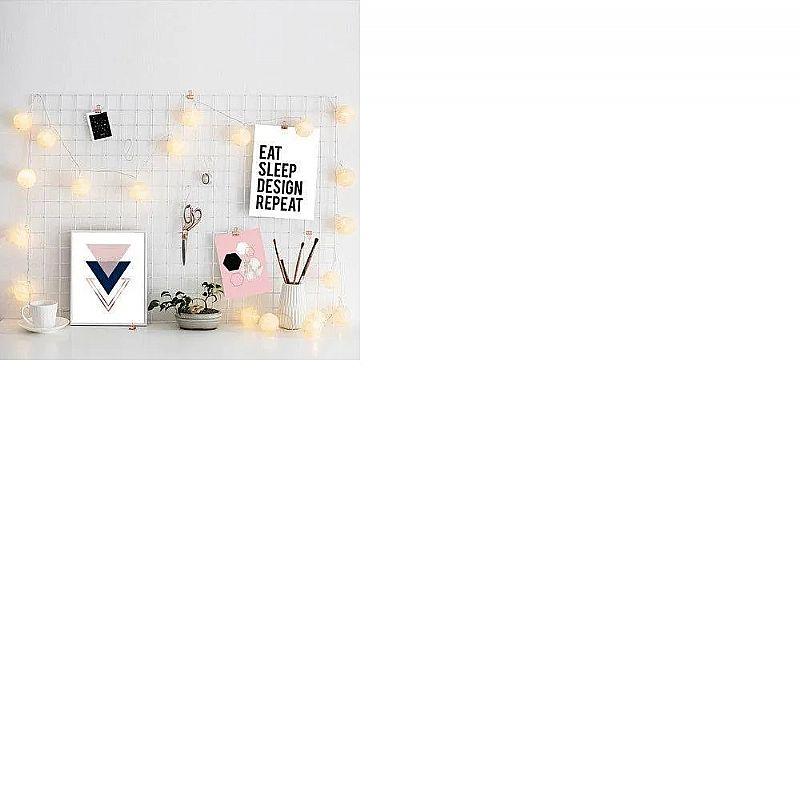 Memory board grade de fotos branco 45cm   6 prendedores  fabricante importado marca l3 store