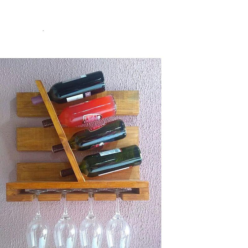 Bar parede garrafas e tacas cores variadas  fabricante benigno decoracoes modelo mini adega a
